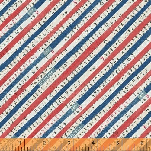 Bias Stripe in Navy by Carrie Bloomston from the Wonder collection for Windham #50519-2
