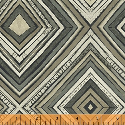 Zig Zag in Charcoal by Carrie Bloomston from the Wonder collection for Windham #50520-5