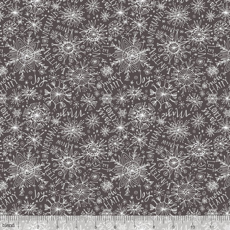 Snow Happy in Grey by Cori Dantini from the Merry and Bright collection for Blend #112.120.03.2