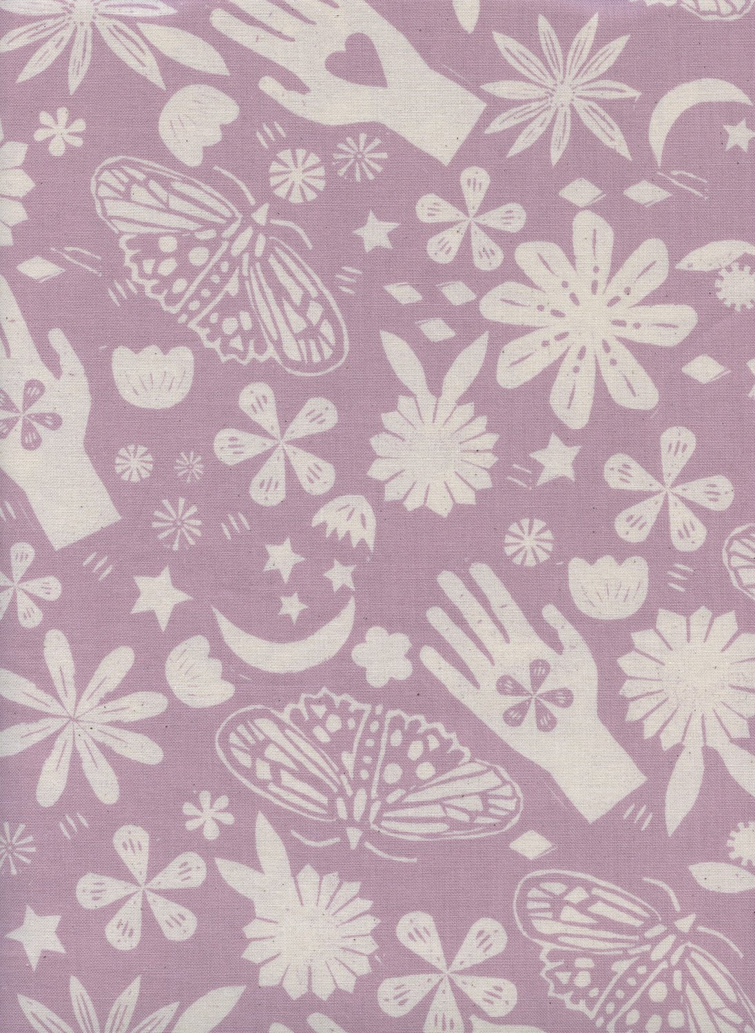 Dream in Lilac Unbleached by Alexia Marcelle Abegg from the Moonrise collection for Cotton and Steel #A4067002
