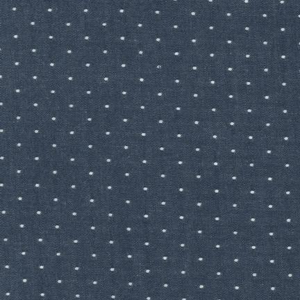 Cotton Chambry Dots in Indigo (Chambray Fabric) for Robert Kaufman #SRK-14728-62