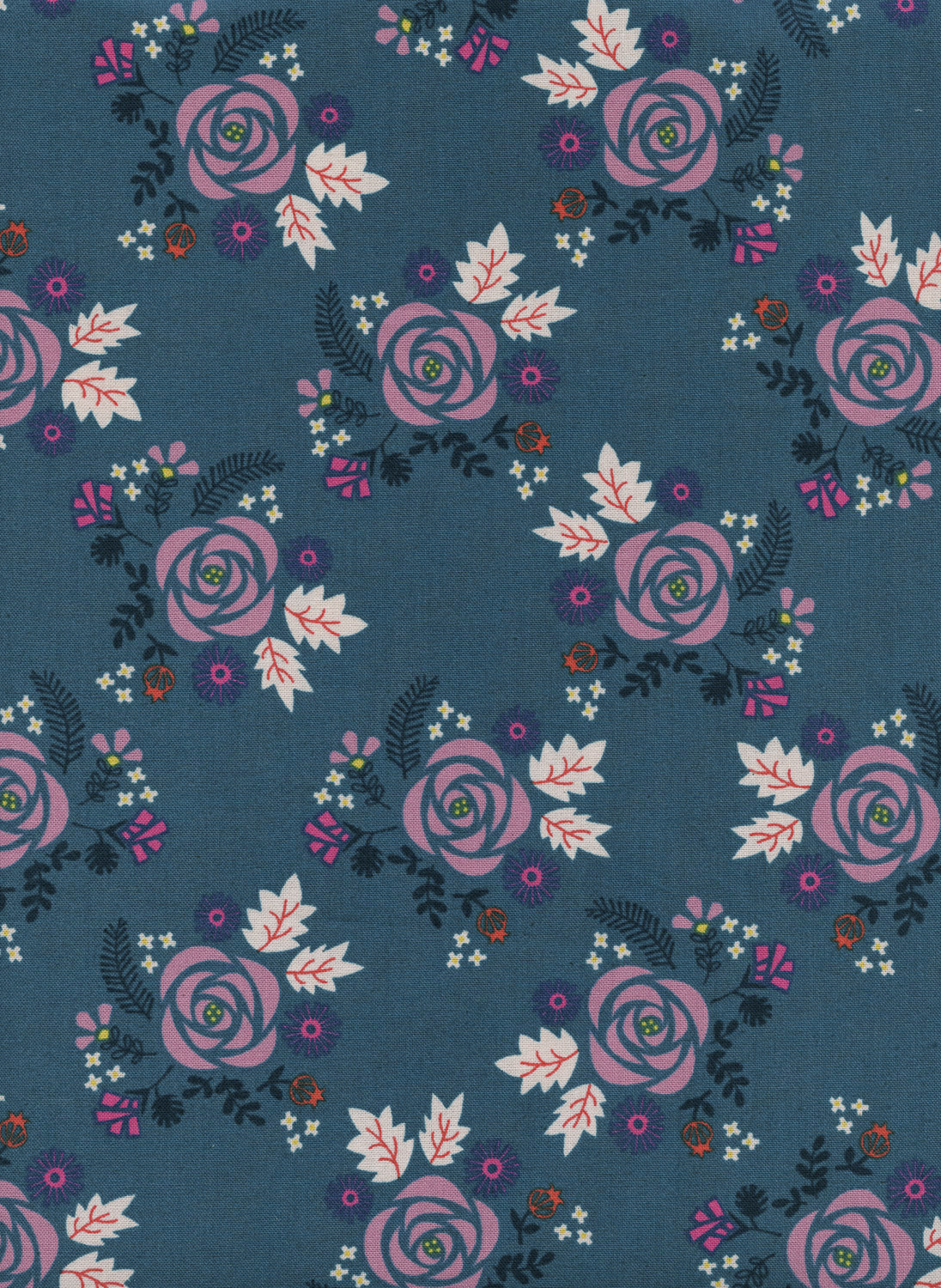 Wildflower in Teal by Rashida Coleman Hale from the Akoma collection for Cotton and Steel #R1972002