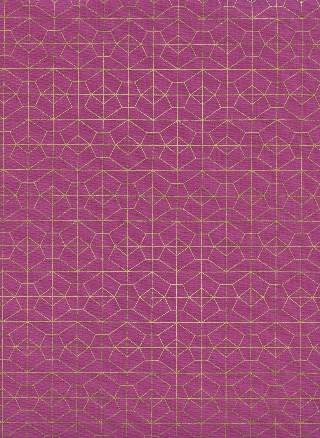 Geo Grid in Fuschia Metallic by Rashida Coleman Hale from the Akoma collection for Cotton and Steel #R1976001