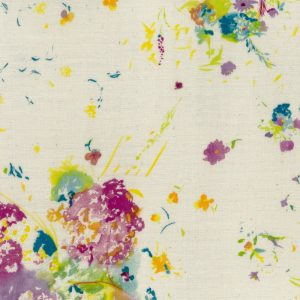 Spring Floral in White A (Double Gauze Fabric) by Nani Iro for Kokka #JG-10760-1A