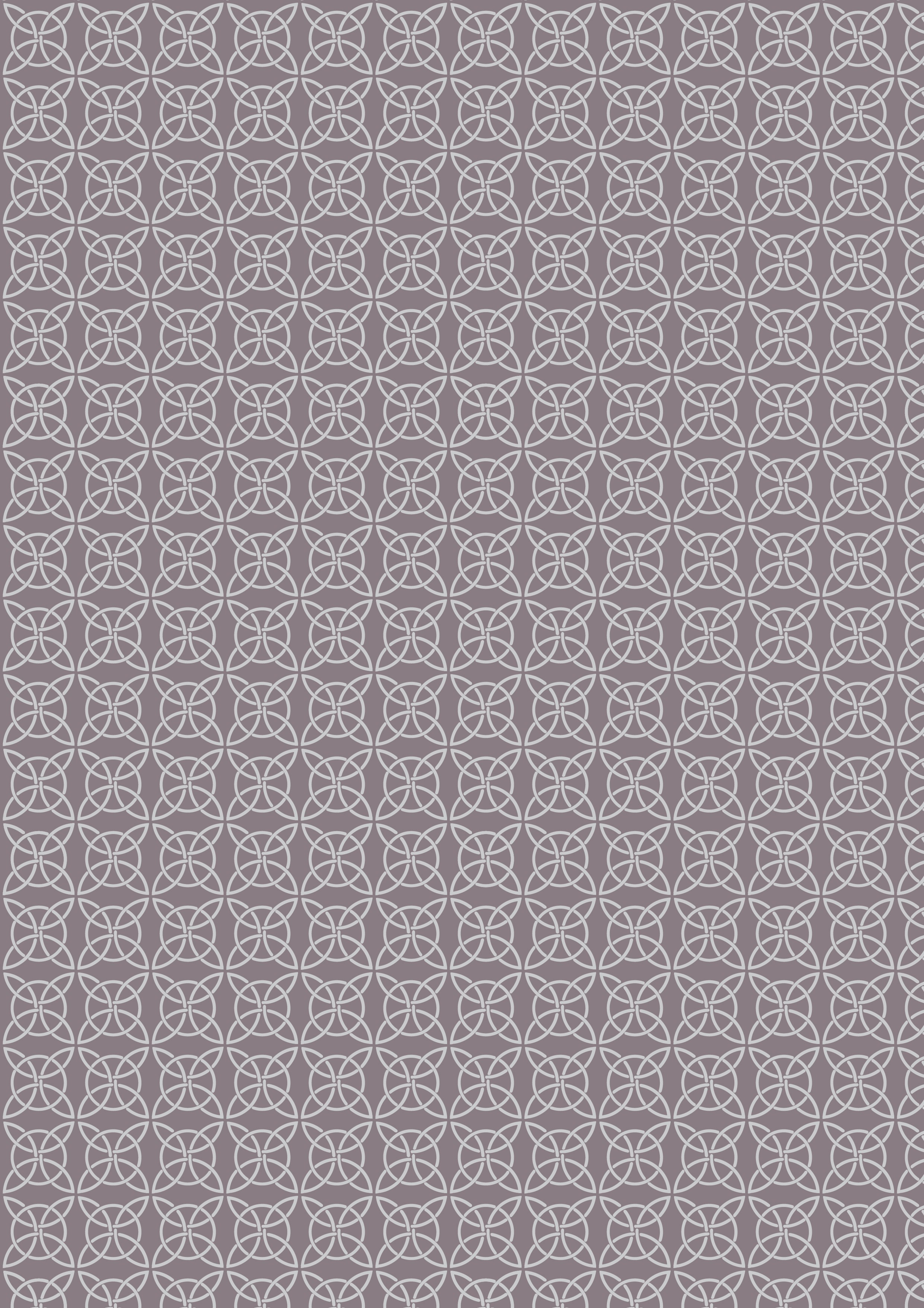 Celtic Knot in Grey and Silver Metallic from the Celtic Reflections collection for Lewis and Irene #A334.2