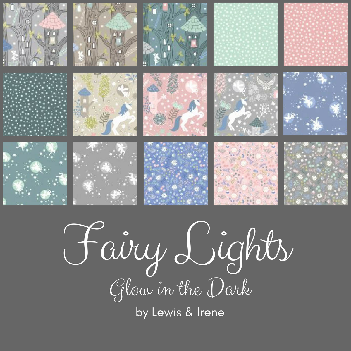 Pre-order: Fat Quarter Bundle (15 Prints) from the Fairy Lights collection for Lewis and Irene #FQFLGLOW