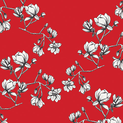 Pre-order: Magnolia Study in Silkroad (Rayon Fabric) by Bari J from the Silk Road collection for Art Gallery #R-1706