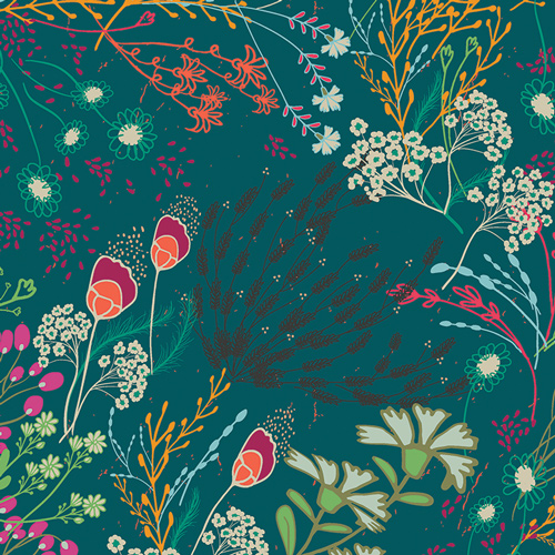 Meadow in Bold (Rayon Fabric) by Pat Bravo from the Legendary collection for Art Gallery #R-39705
