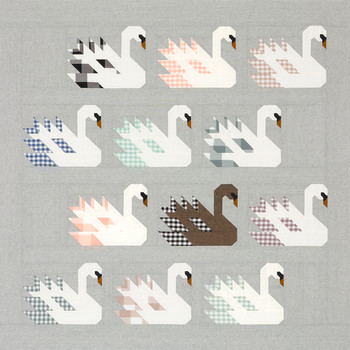 Swan Island Quilt Kit featuring Arctic by Elizabeth Hartman from Robert Kaufman #KITP-1858-19