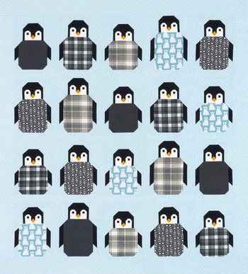 Penguin Party Quilt Kit featuring Arctic by Elizabeth Hartman from Robert Kaufman #KITP-1857-11