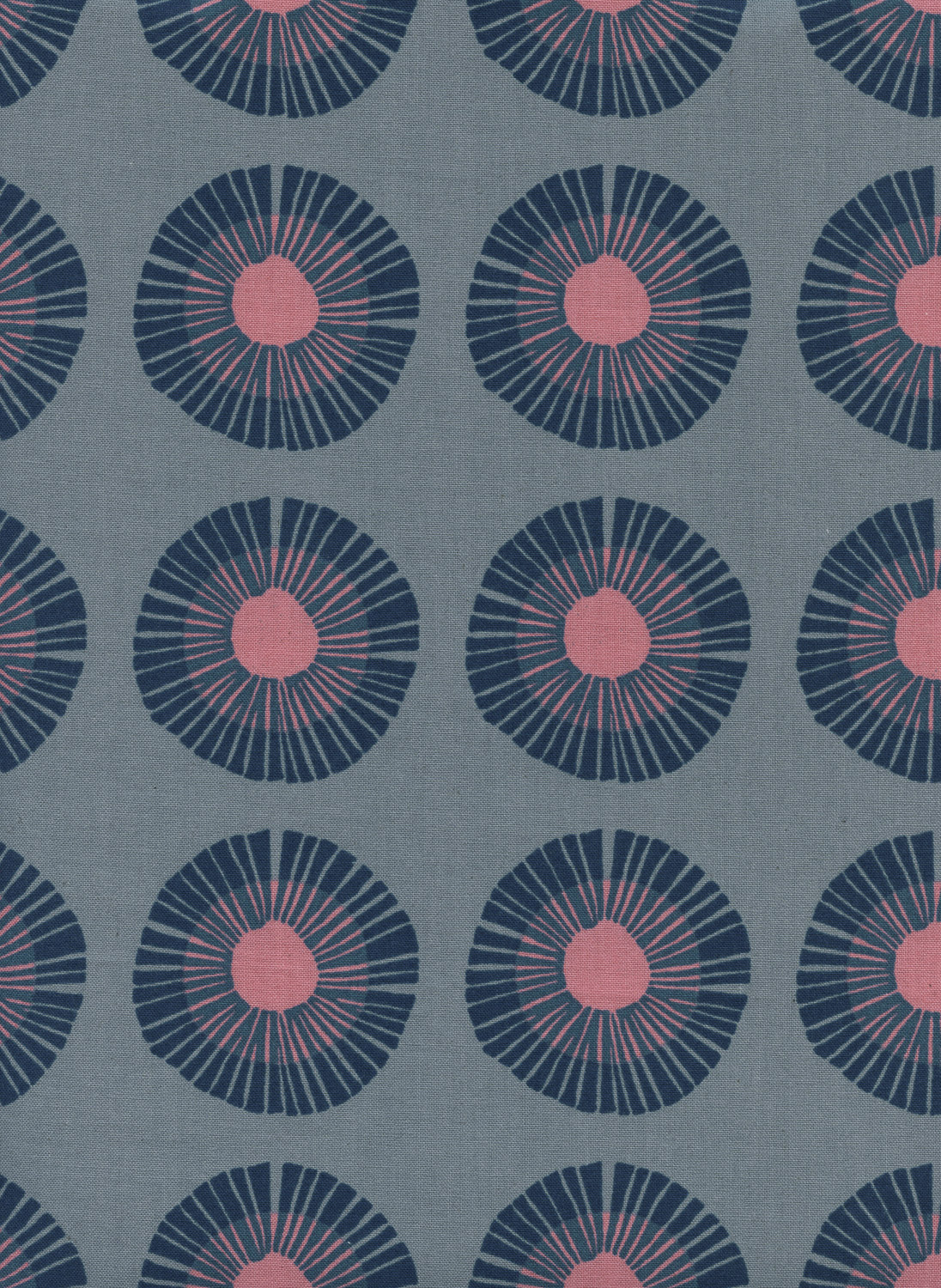 Seaside Daisy in Slate by Jen Hewitt from the Imagined Landscapes collection for Cotton and Steel #J9014-001