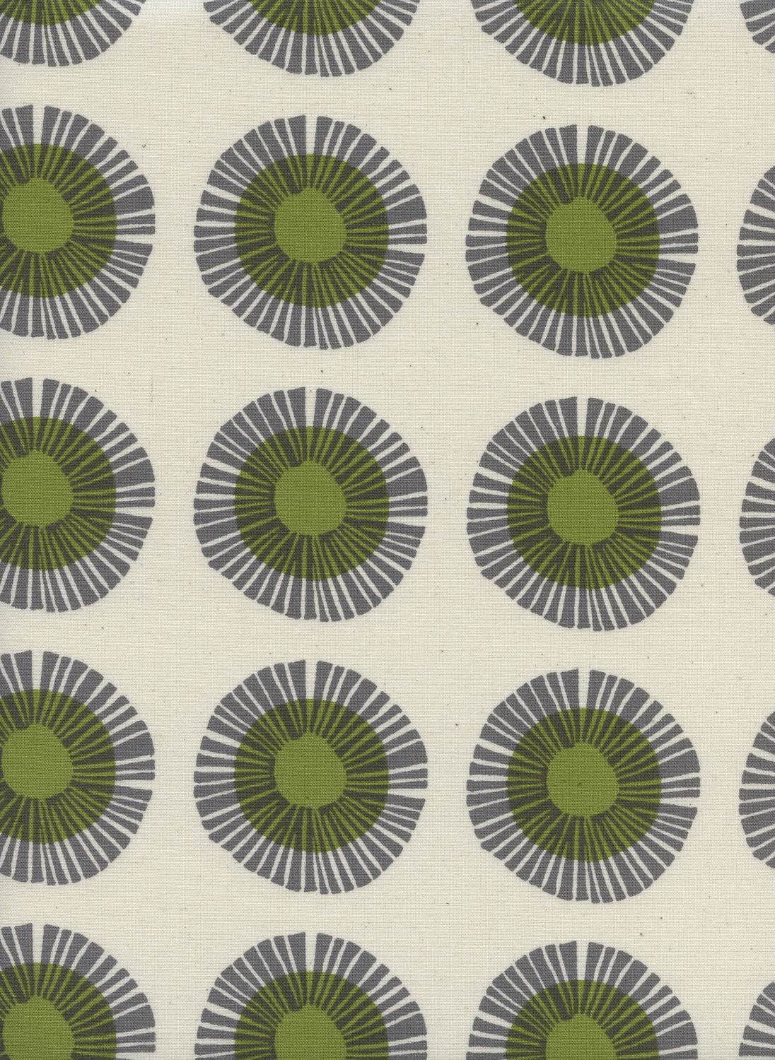Seaside Daisy in Sage Unbleached by Jen Hewitt from the Imagined Landscapes collection for Cotton and Steel #J9014-002