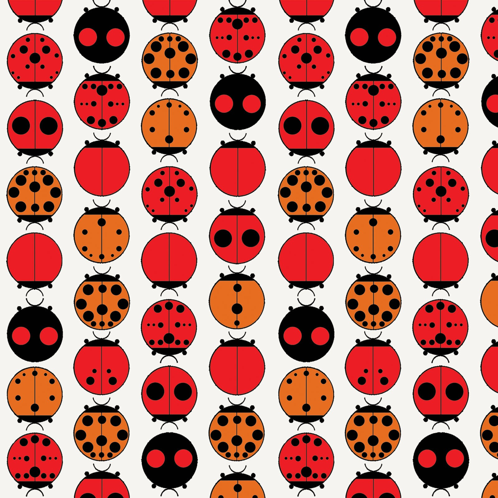Ladybugs (Poplin Fabric) by Charley Harper from the Best of Charley Harper collection for Birch #CH89