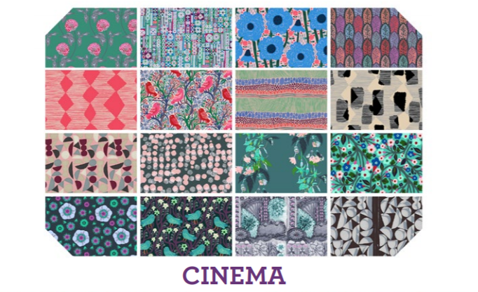 Pre-order: Cinema Fat Quarter Bundle (16 pieces) from Free Spirit by Anna Maria Horner from the Conservatory collection for Free Spirit #FB1FQAMCinem
