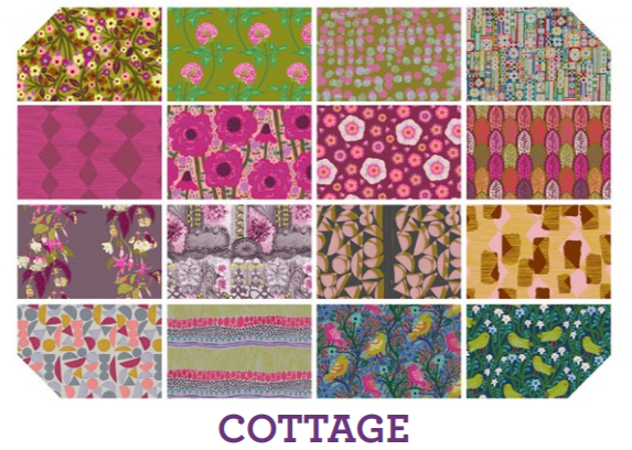Cottage Fat Quarter Bundle (16  pieces) from Free Spirit by Anna Maria Horner from the Conservatory collection for Free Spirit #FB1FQAMCotta