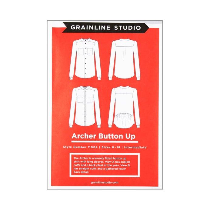 Archer Button Up Pattern from Grainline Studio