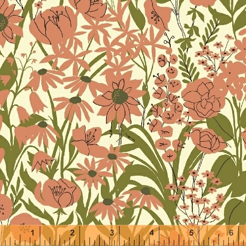 Field in Pink by Dylan Mierzwinski from the Mazy collection for Windham #50954-2