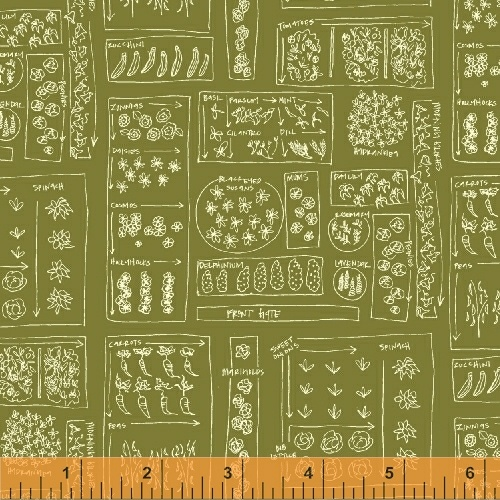 Garden in Green by Dylan Mierzwinski from the Mazy collection for Windham #50954-9