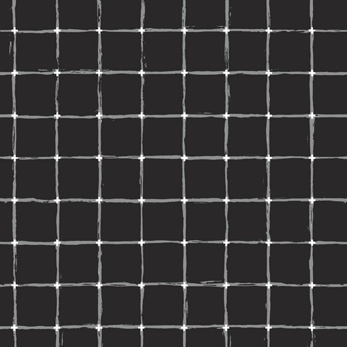 Grid Negative in Black by Katarina Roccella from the Grid collection for Art Gallery #GRI40401