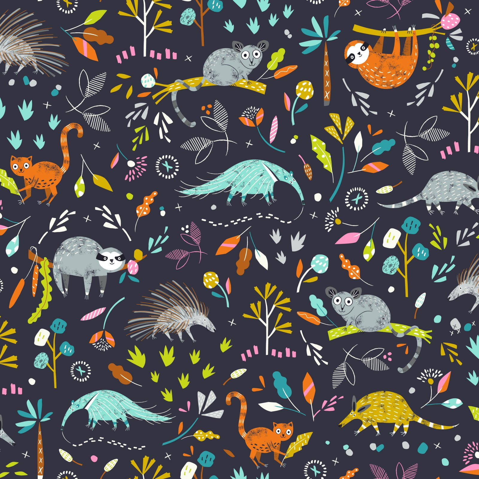 Hang 1419 Critters in Night from the Hanging Around Collection by Ali Brookes for Dashwood Studio