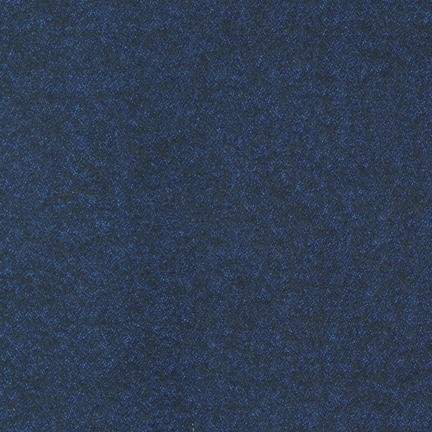Herringbone Flannel in Navy (Flannel Fabric) from the Shetland Collection for Robert Kaufman #SRKF139369