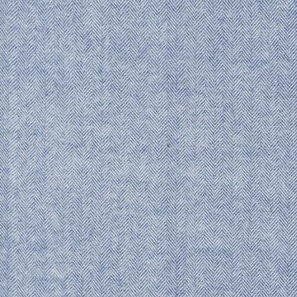 Herringbone Flannel in Denim (Flannel Fabric) from the Shetland Collection for Robert Kaufman #SRKF1393667