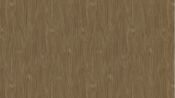 Woodgrain in Toffee from the Black Forest Collection by Rae Ritchie for Dear Stella