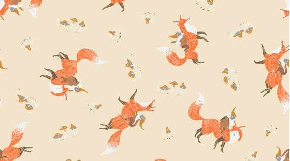 Gnomes and Foxes from the Black Forest Collection by Rae Ritchie for Dear Stella