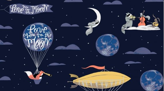 Love You To The Moon from the Love You To The Moon Collection by Rae Ritchie for Dear Stella