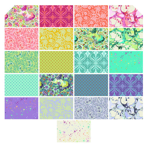 Fat Quarter Pack from Free Spirit by Tula Pink from the Pinkerville collection for Free Spirit #FB2FQTP.PINKERVILLE