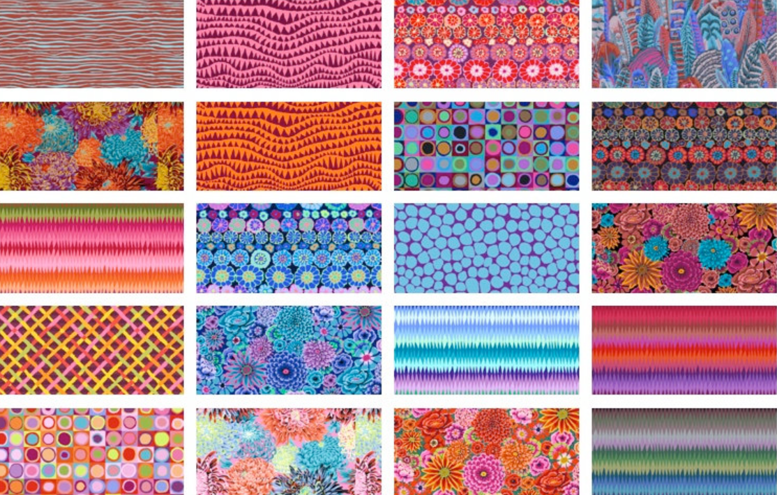 Fat Quarter Pack in Night from Free Spirit by Kaffe Fassett Collective from the Kaffe Fassett Collective Fall 2018 collection for Free Spirit #FB2FQGP.NIGHT