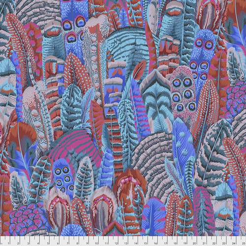 Feathers in Turquoise by Kaffe Fassett Collective from the Kaffe Fassett Collective Fall 2018 collection for Free Spirit #PWPJ055.TURQU