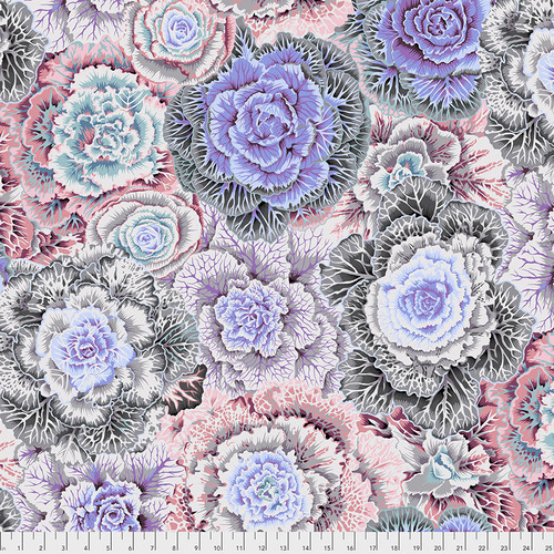 Brassica in White by Kaffe Fassett Collective from the Kaffe Fassett Collective Fall 2018 collection for Free Spirit #PWPJ051.WHITE