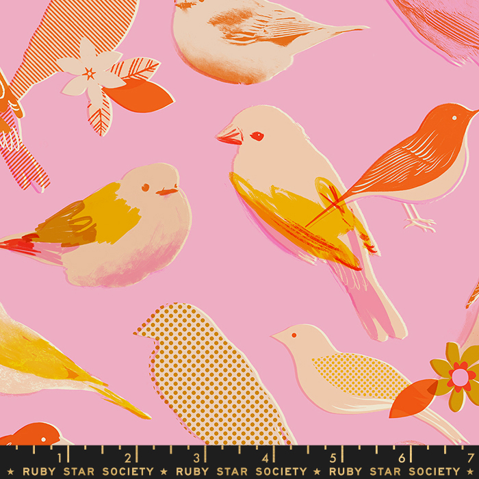 Pre-order: Chirp in Peony by Melody Miller from the Social and Spark collection for Ruby Star Society #RS0002 13