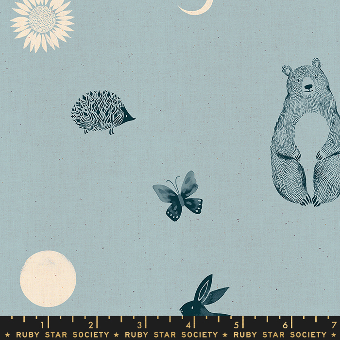 Pre-order: Forest Dot in Soft Blue by Sarah Watts from the Crescent and Brushed collection for Ruby Star Society #RS200214