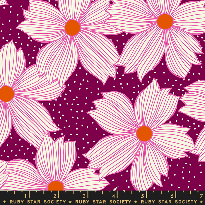 Night Bloom in Purple Velvet by Sarah Watts from the Crescent and Brushed collection for Ruby Star Society #RS200415