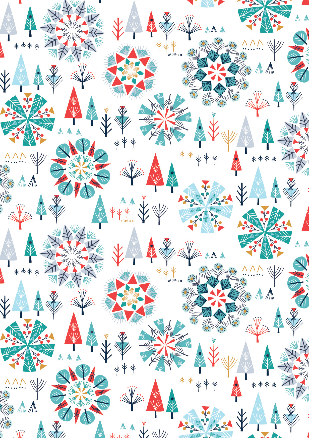 Trees in Multi by Bethan Janine from the Skogen collection for Dashwood Studio #SKOG1531