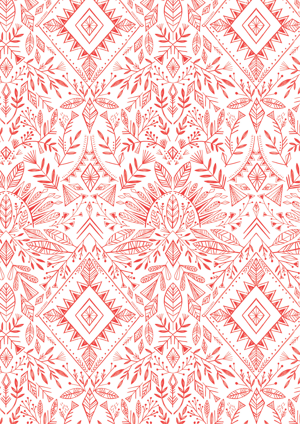 Feathers in Red by Bethan Janine from the Skogen collection for Dashwood Studio #SKOG1536