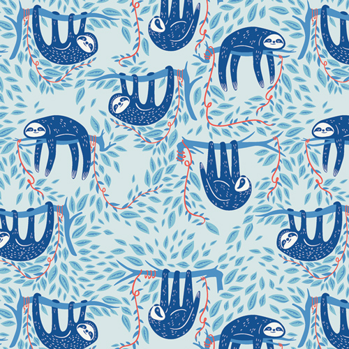 Swaying Sloths in Sky by AGF Studio from the Selva collection for Art Gallery