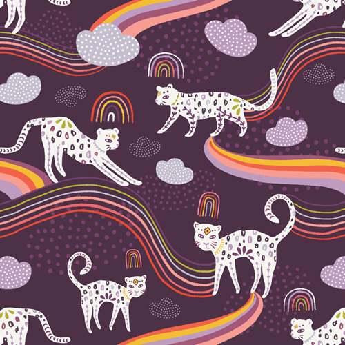 Jaguar in Rainbow by Jessica Swift from the Kushukuru collection for Art Gallery