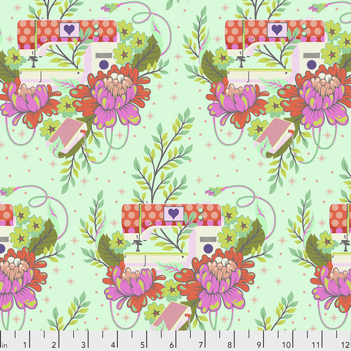 Pedal to the Medal in Morning by Tula Pink from the HomeMade collection for Andover