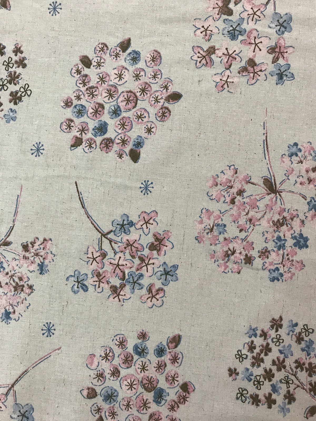 Floral Watercolor in Gray Natural (Light Linen Blend Fabric) for Koizumi Lifetex #148-1857-A1