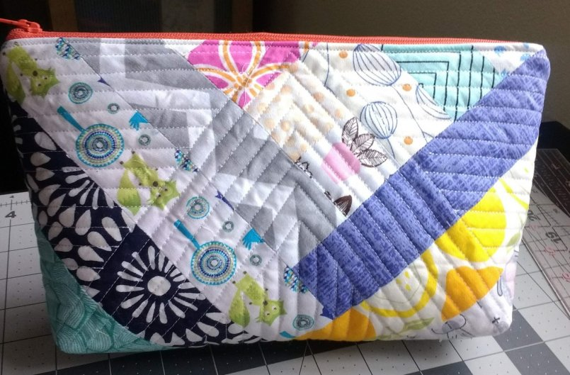 Quilted Zipper Pouch closed