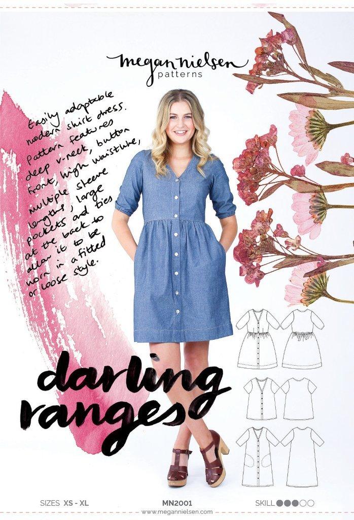 Darling Ranges Dress Paper Sewing Pattern by Megan Nielsen
