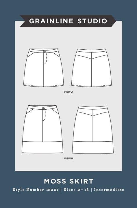 Moss Skirt from Grainline