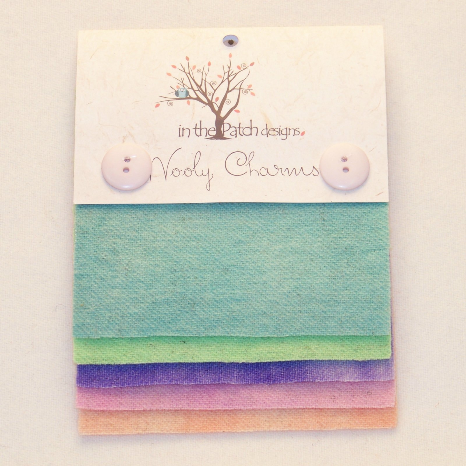 Wooly Charms 5-Pack in Rainbow Sherbet (Wool Felt Fabric) by Phyllis Meiring for In the Patch Designs #itpwc6060c