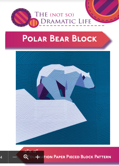 Polar Bear Block PDF (Digital Download) by The Not So Dramatic Life