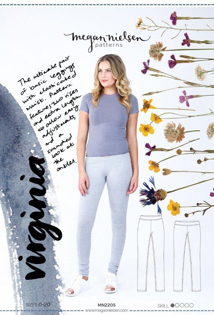Virginia Leggings Paper Sewing Pattern by Megan Nielsen