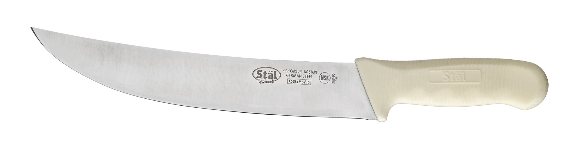 9-1/2 Cimeter Knife, White PP Hdl