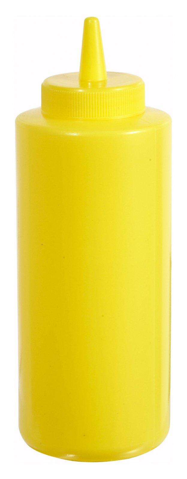 12oz Squeeze Bottles, Yellow, 6pcs/pk